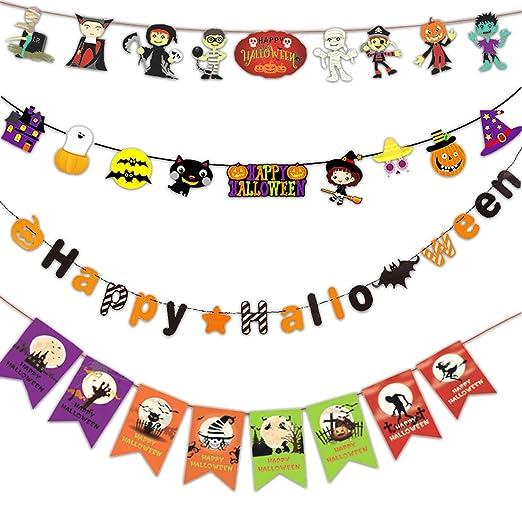 Halloween Supply | Amazon Com Set Of 4 Halloween Banner Flags For Halloween Party