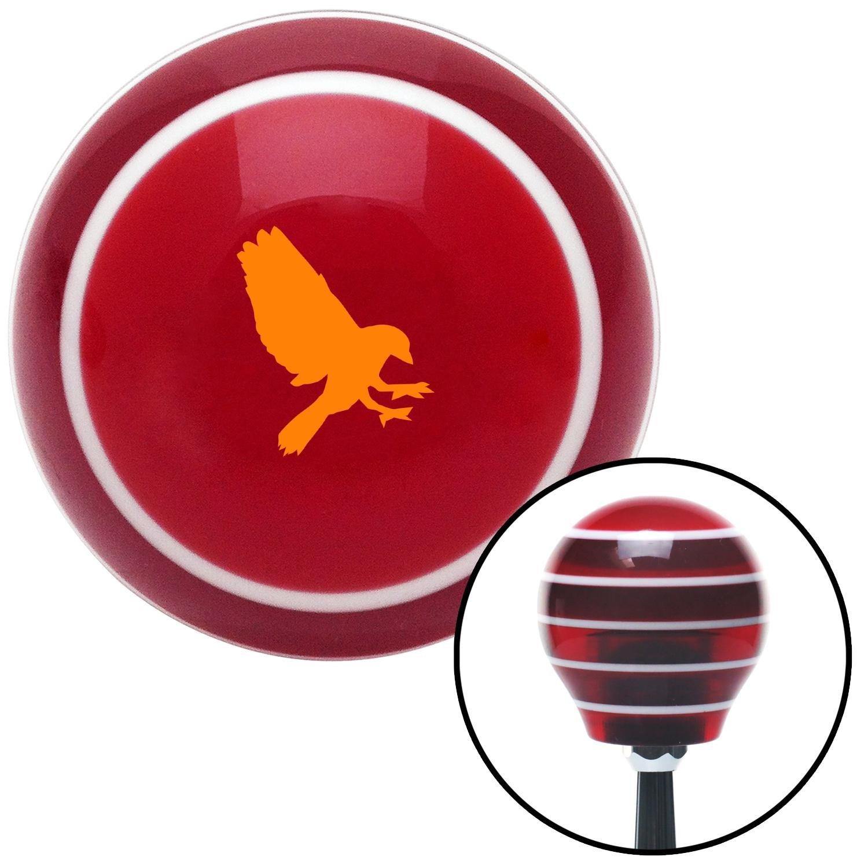 Orange Crow Red Stripe with M16 x 1.5 Insert American Shifter 273589 Shift Knob