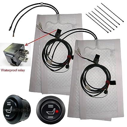 amazon com tech era carbon fiber seat heater kit hi lo setting 2 rh amazon com