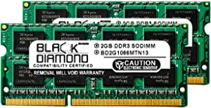 4GB 2X2GB RAM Memory for Acer Aspire Notebooks 7741Z-5731 Black Diamond Memory Module DDR3 SO-DIMM 204pin PC3-8500 1066MHz Upgrade