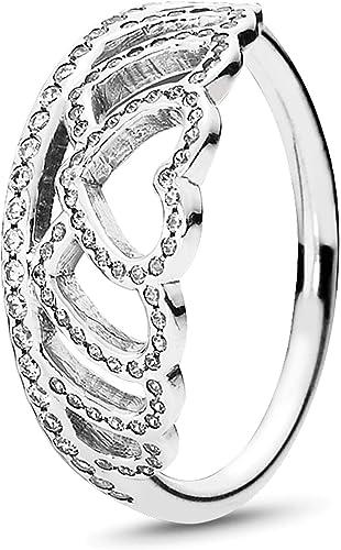 Amazon Com Pandora Jewelry Hearts Tiara Ring For Women In