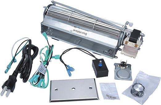 Hongso GFK4 Replacement Fireplace Blower Fan KIT for Heatilator Majestic,