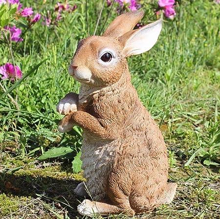 zenggp Conejo Figura Resina Simulación Decoración Animal Jardín Decoración para El Hogar Patio Adornos,Heinght+33cm: Amazon.es: Hogar