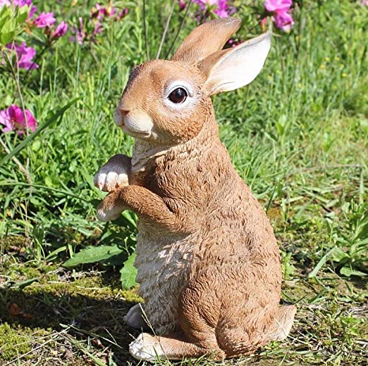 zenggp Conejo Figura Resina Simulación Decoración Animal Jardín ...