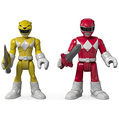 Fisher-Price Imaginext Power Rangers Red Ranger & Yellow Ranger: Toys & Games