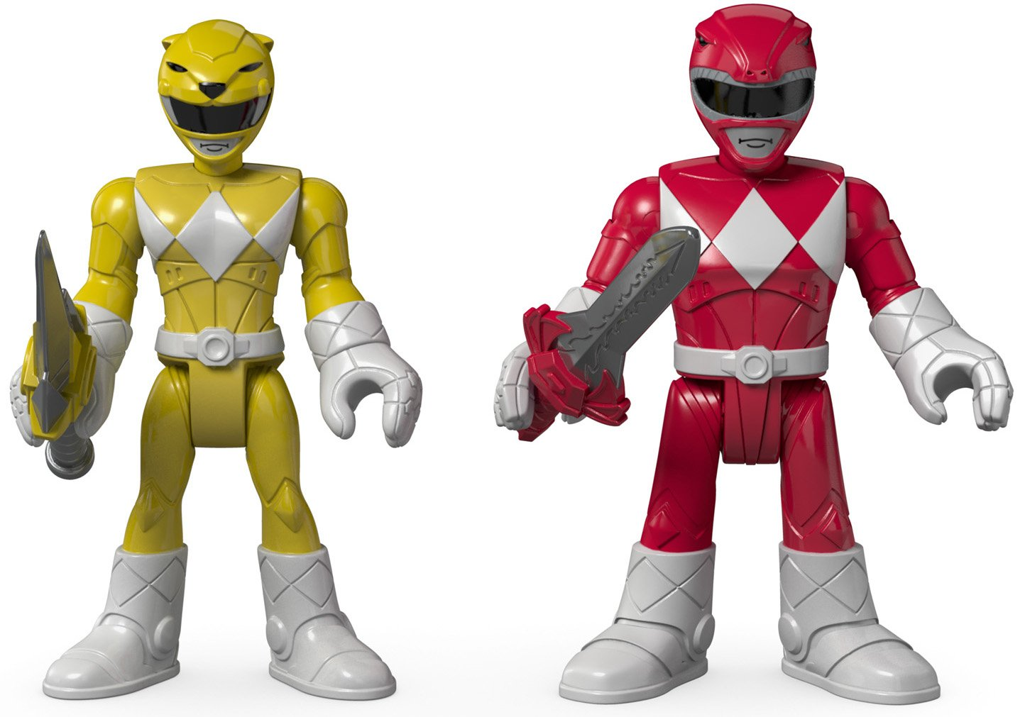 Fisher-Price Imaginext Power Rangers Red Ranger & Yellow Ranger