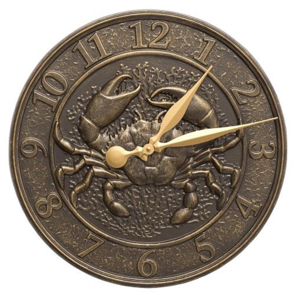 """Crab Sea Life Indoor/Outdoor Clock (16"""" Diameter)"""