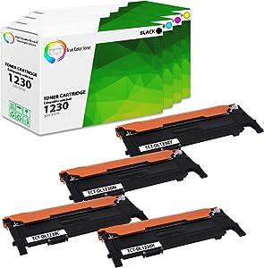 TCT Premium Compatible Toner Cartridge Replacement for Dell 1230 1230C 1235CN Printers (Black 330-3578, Cyan 330-3581, Magenta 330-3580, Yellow 330-3579) - 4 Pack