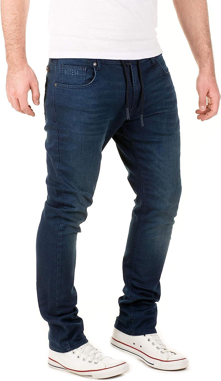 WOTEGA Herren Jeans Slim Sweathose in Jeansoptik Noah
