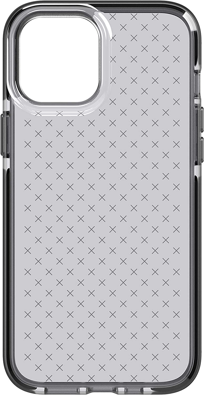 tech21 Evo Check for Apple iPhone 12 Pro Max 5G - Germ Fighting Antimicrobial Phone Case with 12 ft. Drop Protection, Black/Smokey
