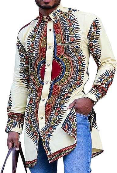 Camisa de Estilo Nacional Africano Dashiki para Hombre Camisa ...
