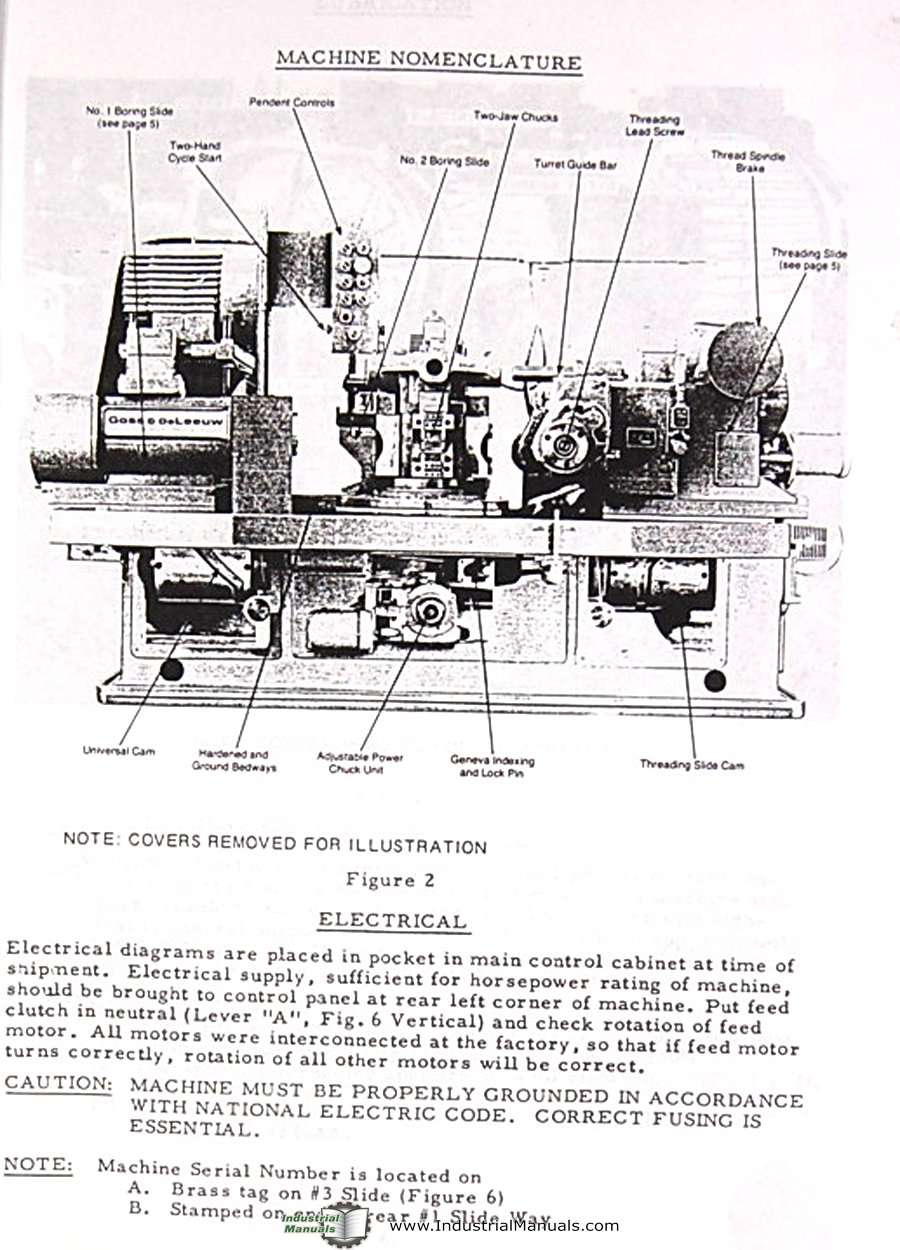 Business & Industrial Sporting Goss & Deleew 4 Spindle Chucking Machine Lathes Operator's Manual