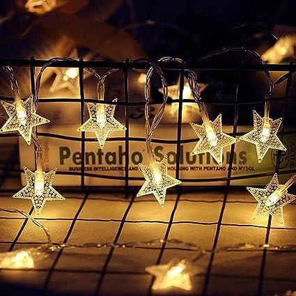 Twinkle Star Guirnalda De 40 Luces Led De 14 Pies Funciona Con Pilas Guirnalda De Luces Para El Hogar Fiesta De Ramadán Navidad Boda Decoración De Jardín Blanco Cálido Home Improvement