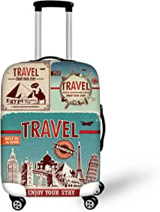 """Bigcardesigns Cool Travel Luggage Protective Covers for 26""""-30"""" Suitcase Elastic"""