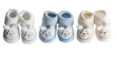 c0a19542a2fd8 FC ESHOP - 3 paires de chaussons naissance - bébé garçon  Amazon.fr ...