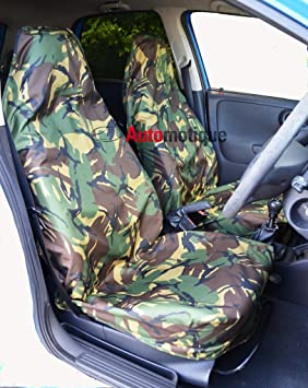 SMART FOR TWO 03-07 CAMOUFLAGE FRONT PAIR CAR SEAT COVER SET CAMO