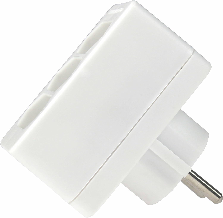 as/ /connecteur Multiple Blanc Multiprise 48311 /Schwabe Adaptateur de Prise fiche Prise Euro/ 3/Prises Euro Multi