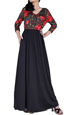 Women Maxi Dress Long Summer Floral Plus Size Clothing Hawaiian Casual  Holiday Party Sundress