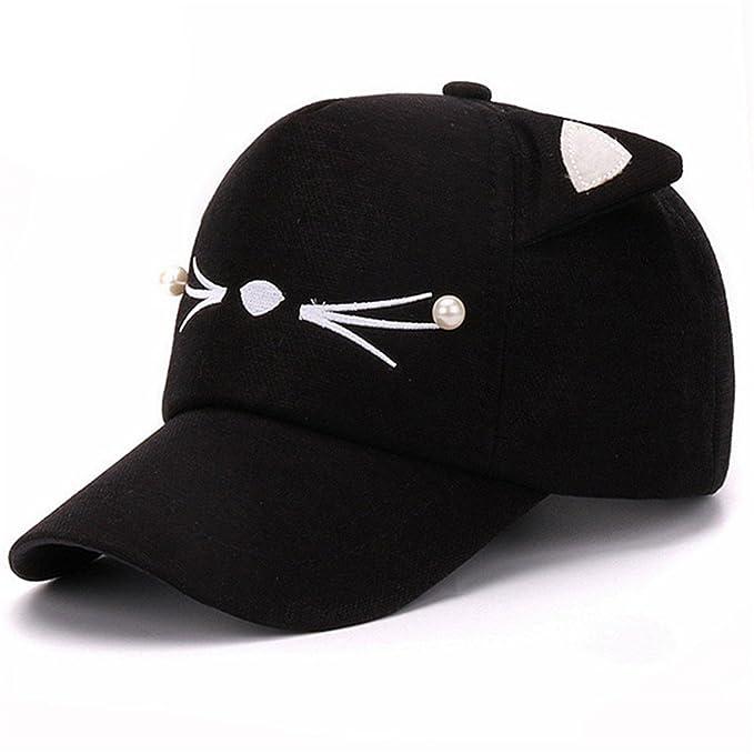 Constructs Calle De La Moda De Primavera Ajustable Encantador Bordado Sombrero Orejas De Gato Snapback Cap