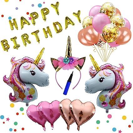 Amazon.com: Juego de globos de unicornio de arce Entp ...