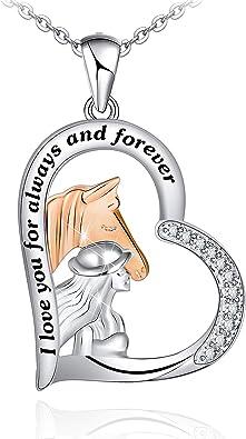 Silver horse pendant 925 Nine