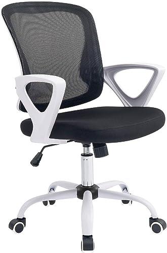 Office Chair Ergonomic Desk Chair Adjustable Height Modern Mid Back Swivel Chair