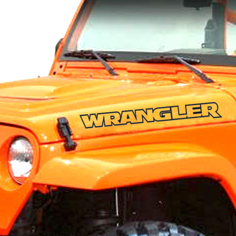 4x Rubicon outline Decals Stickers for Jeep Wrangler hood fender TJ JK CJ YJ JL