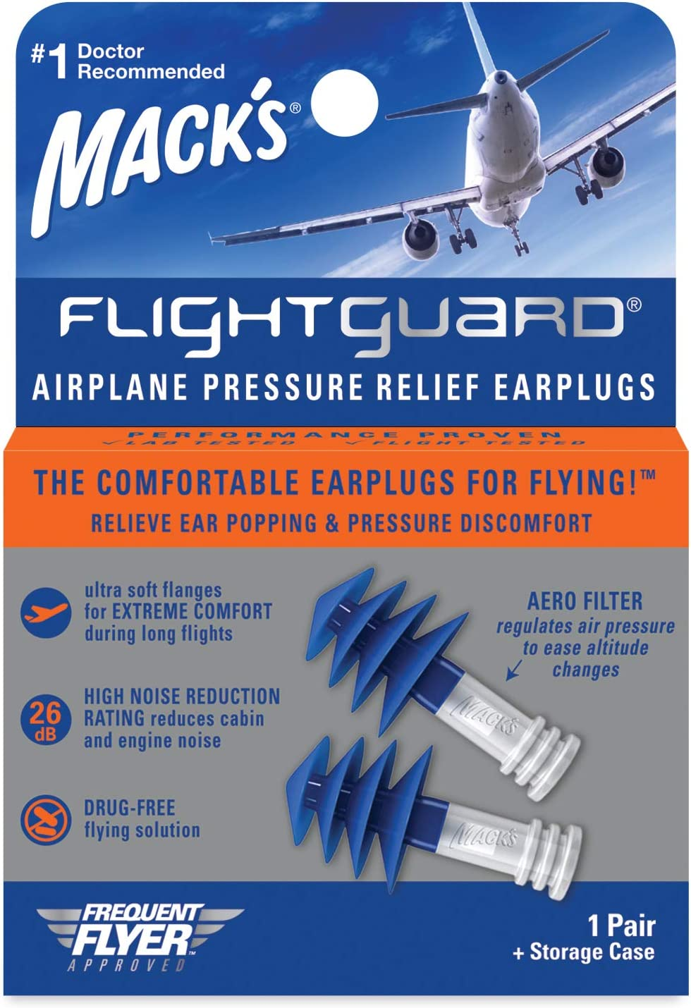 Mack的Flateguard飞机压力释放耳塞