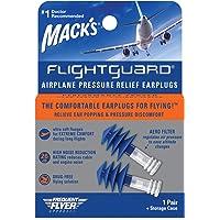 Protetor Auricular Mack's Flightguard 1 Par com Case Azul