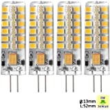 Sunix® 4X Haute Puissance G4 5W 48 SMD 2835 DC/AC 12V LED Silicone Lampe Ampoule à broches Spotlight Économie d'énergie Blanc Chaud Dimmable SU023