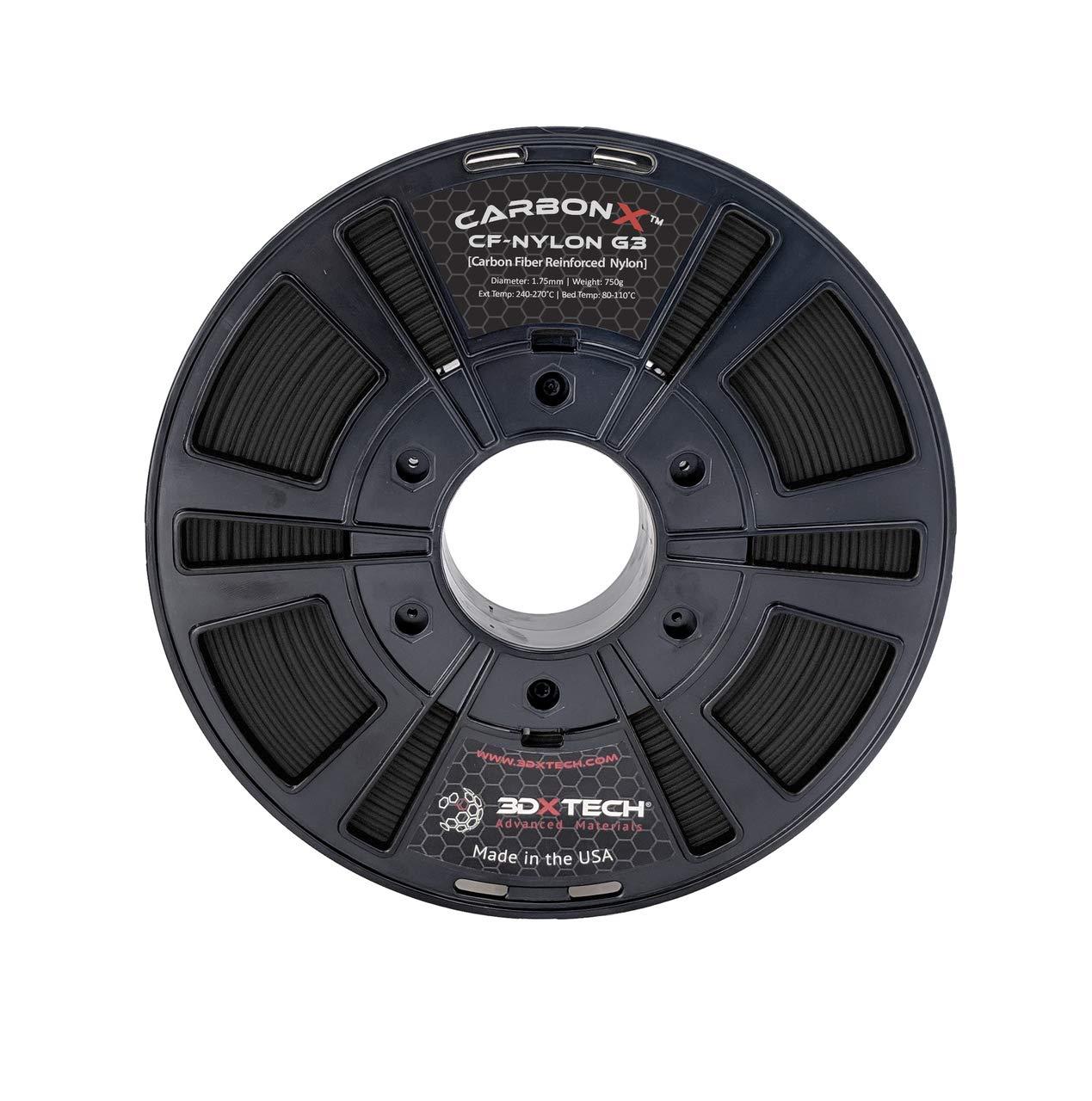 CARBONX - Filamento de impresión 3D (fibra de carbono, nailon, 1 ...