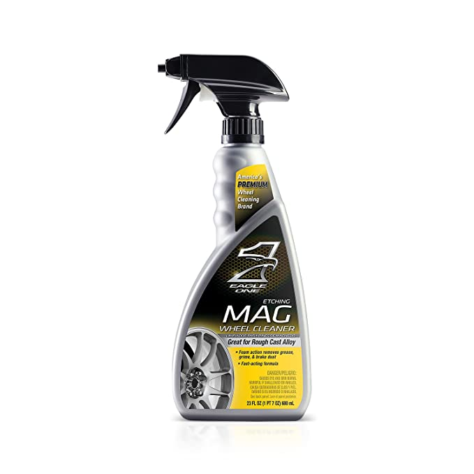 Amazon.com: Eagle One E301345400 Black and Plastic-Coat Wheel Cleaner, 23 fl. oz.: Automotive