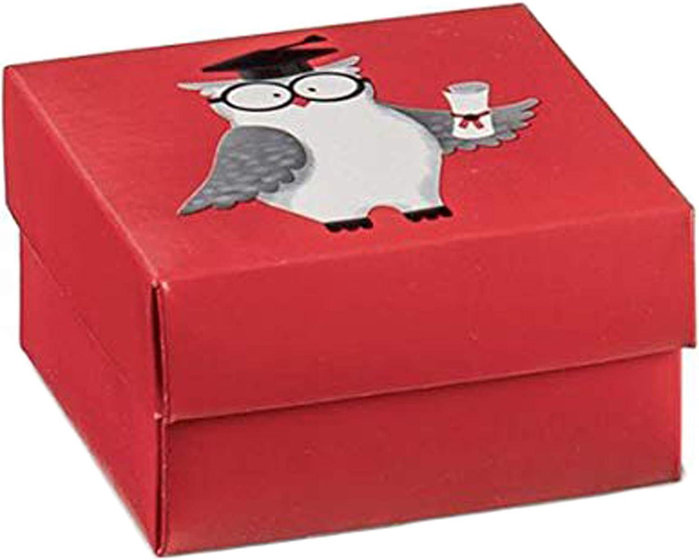 20 Piezas Caja Pequeña Bolsas para Peladillas 6x6x3 Rojo Búho Búho Tocar Graduación Detalle: Amazon.es: Juguetes y juegos