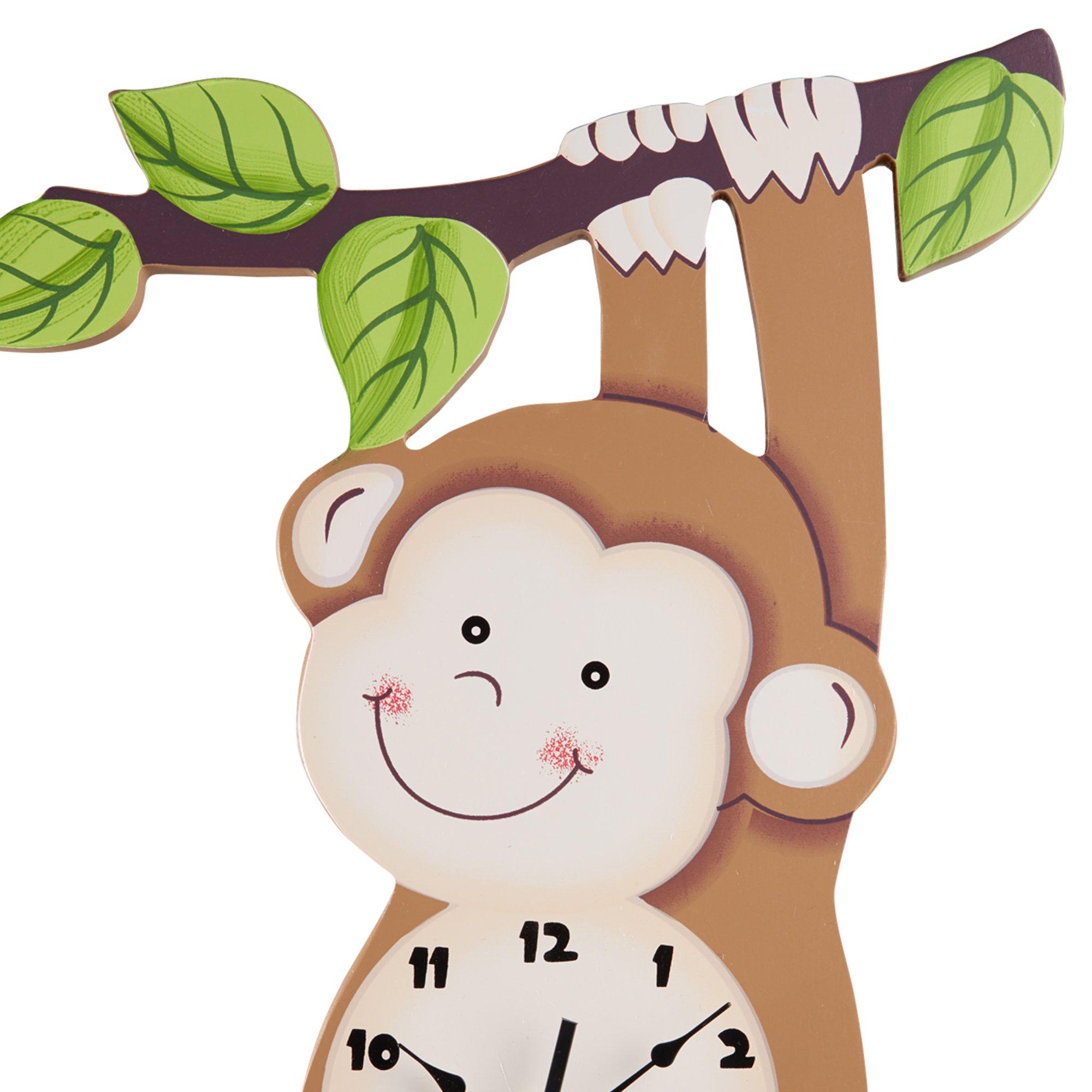 Fantasy Fields Sunny Safari Kids Wall Clock, Brown/Monkey by Fantasy Fields (Image #4)