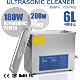 BuoQua 6L Pulitore Ad Ultrasuoni Display Digitale Ultrasuoni Bagno Ultrasuoni Dispositivo Con Timer Digitale 6L