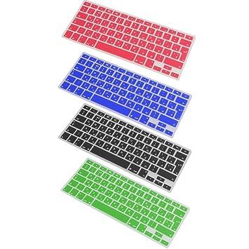 MagiDeal 4 Piezas de Cubiertas Etiquetas para Teclados de Ordenador Portàtil PC de Silicona Russian-