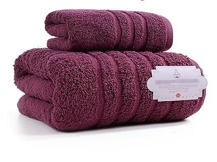 ZHAS Cuidado Fácil Toallas de Baño de Algodón de Invierno Hotel Ubicado a los Hombres y