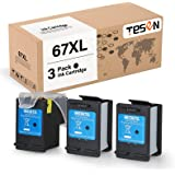 TESEN Remanufactured 67 XL Ink Cartridge Replacement for HP 67 XL 67XL Use with HP Envy 6055 6455 6052 6458 DeskJet 2755 2752