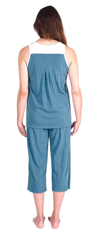 Cool-jams Moisture Wicking Sleepwear for Women - Pleated Tank Capri Set - Comfortable and Stylish Cool Fabric Technology - 2XL, Niagara: Amazon.es: Ropa y ...