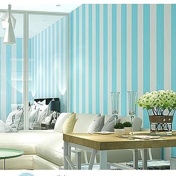 Endoy Moderne Minimalistische Vertikale Streifen Vlies Wohnzimmer TV  Hintergrund Schlafzimmer Restaurant Blau Grün Tapete, A1005