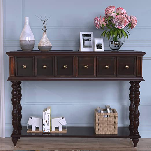 Amazon.com: Norcia Console Table with Drawers, Antique-Inspired