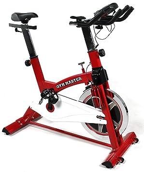 GYM MASTER PRO - Bicicleta estática de alta resistencia con volante de inercia de 20 kg