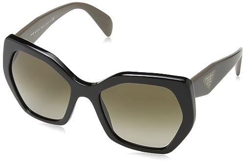 8036f38231 Prada Women s Gradient PR16RS-1AB1X1-56 Brown Rectangle Sunglasses ...