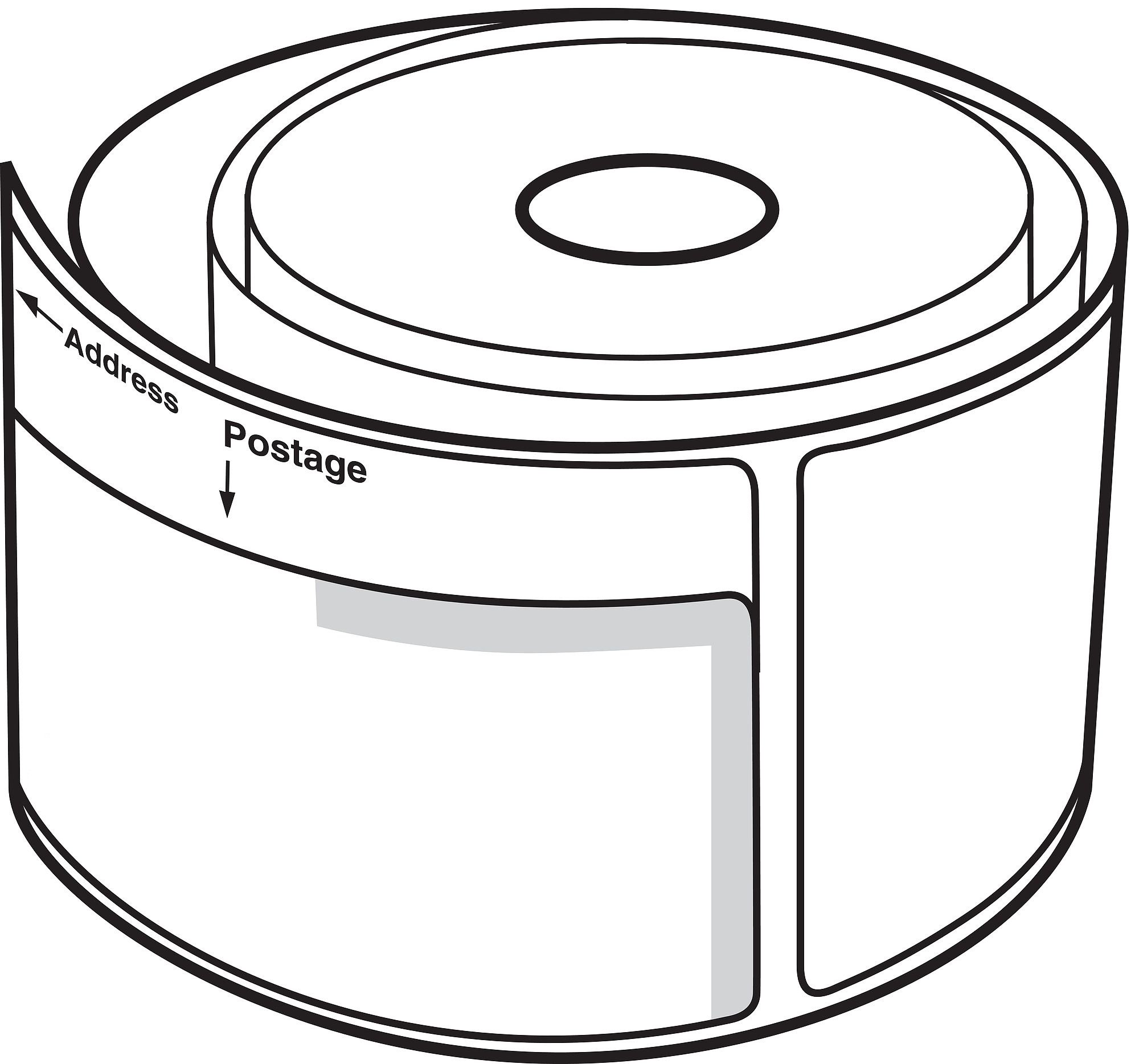 24 Rolls of White 2-1/4''x7-1/2'' Dymo Compatible 30384 2-Part Internet Postage 150 Labels P/R 400 450 Twin Turbo by Labels and More