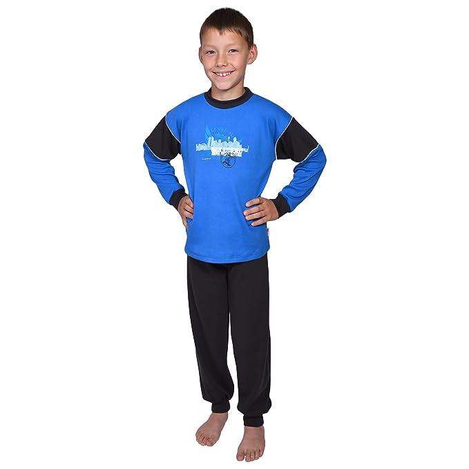 Mauz by Wörner - Pijama dos piezas - para niño azul Schlafanzug 2-tlg Interlock