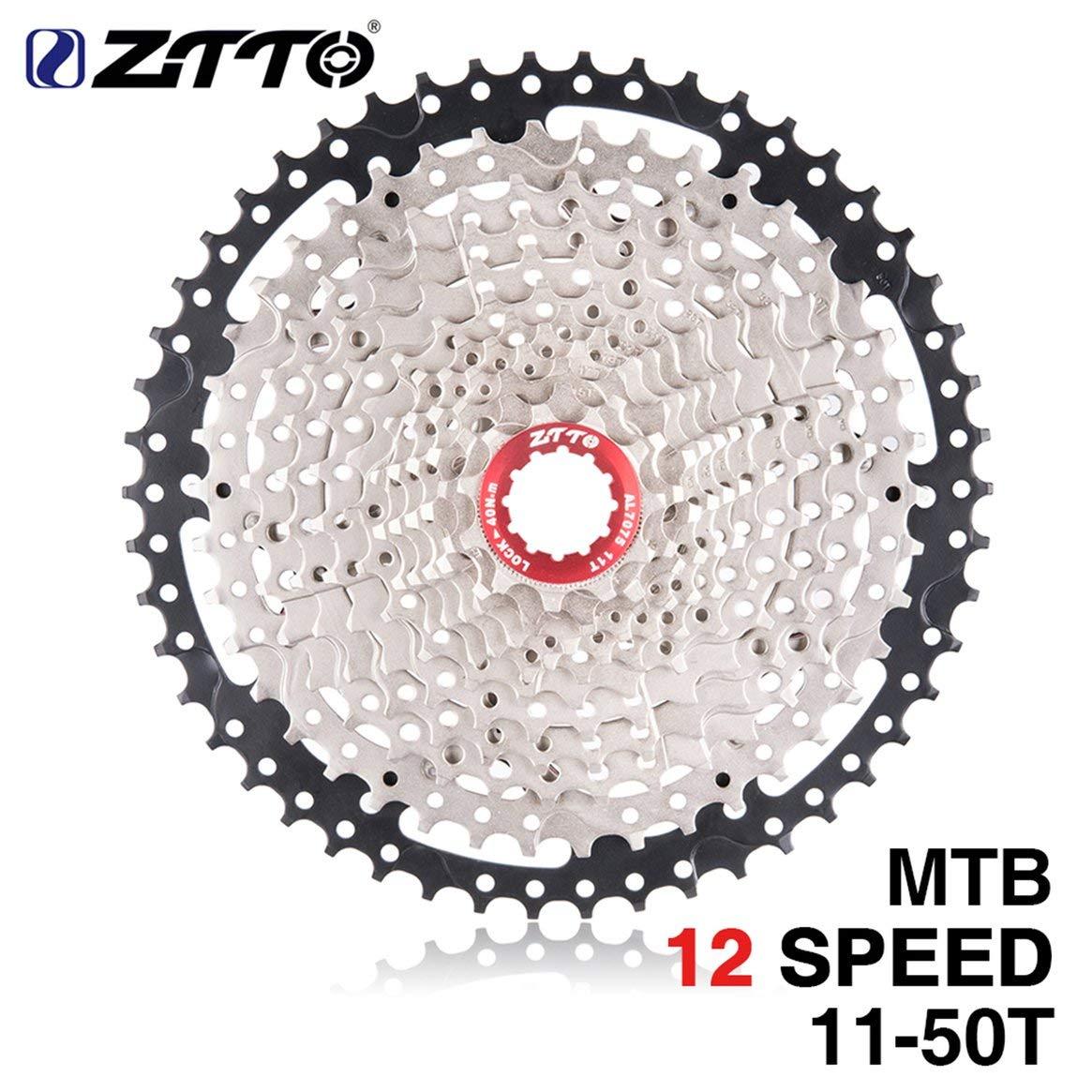Delicacydex ZTTO 11-Fach Kassette 11-50T kompatibles Rennrad Shimano Sram System hochfeste Stahlkettenräder faltendes Silber schwarzes