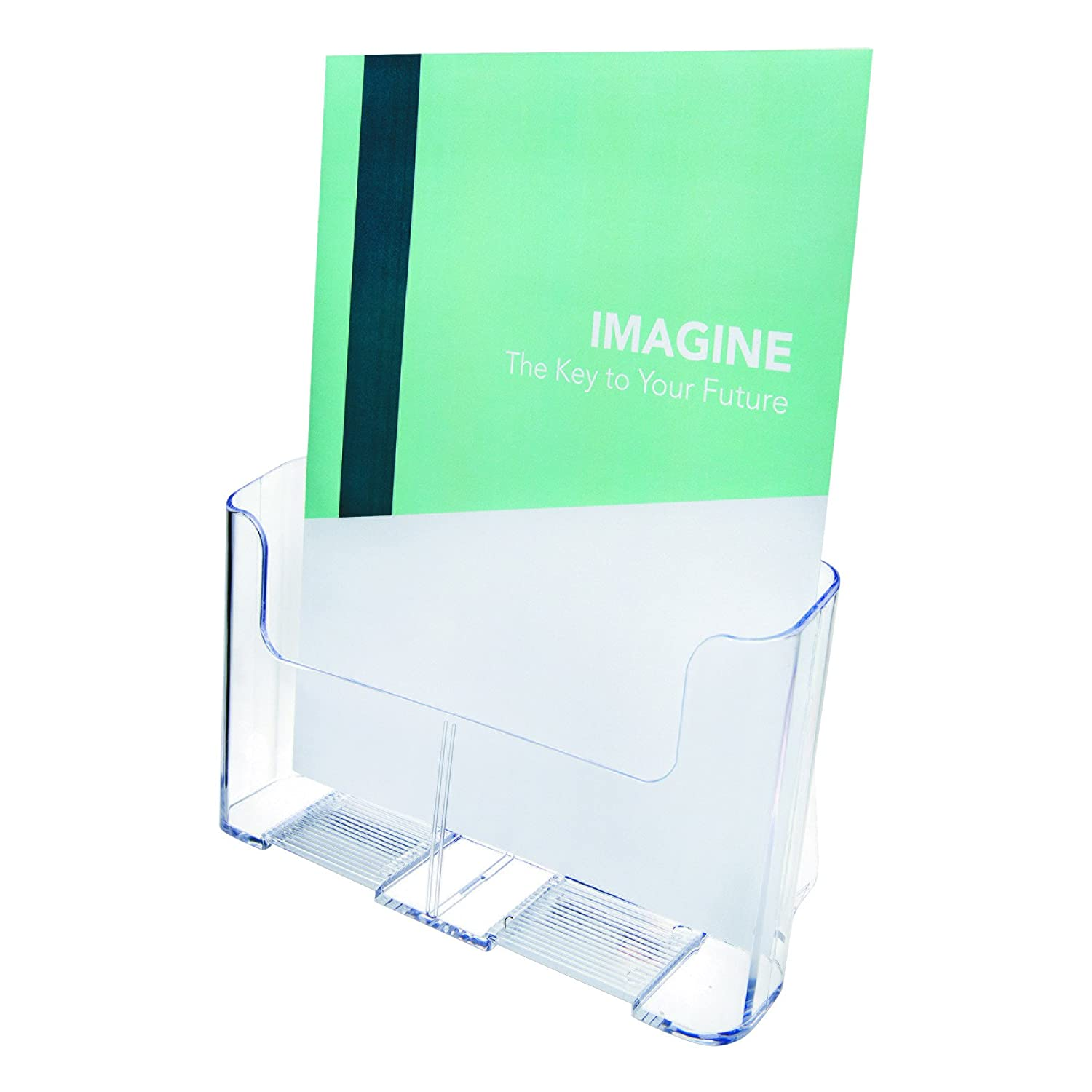deflect-o Euro-Style One-Pocket Rigid Plastic Magazine Display Rack, Clear (77001) 19189 DOBA-DEF77001