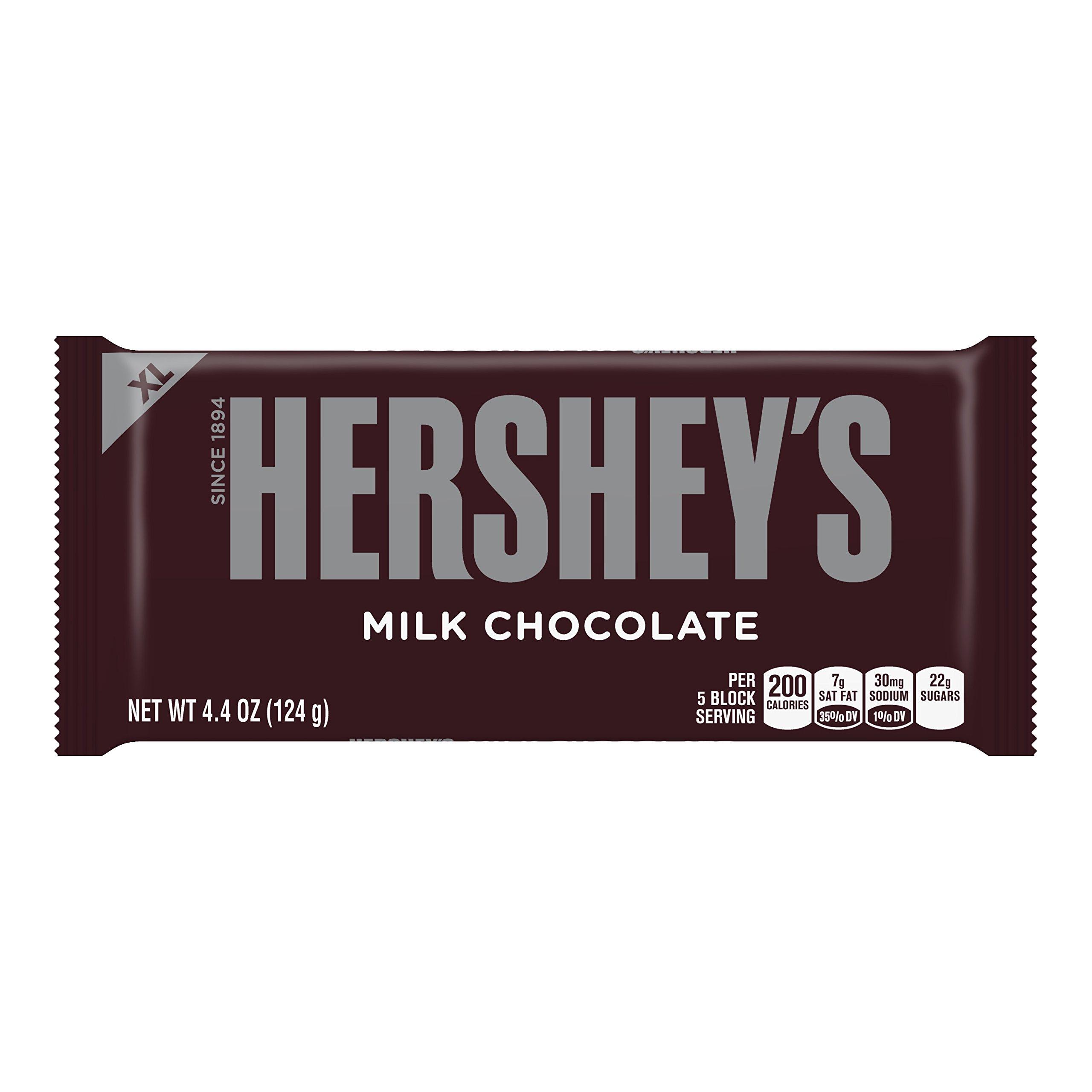 HERSHEY'S Extra Large Chocolate Bar, 4.4 Ounce