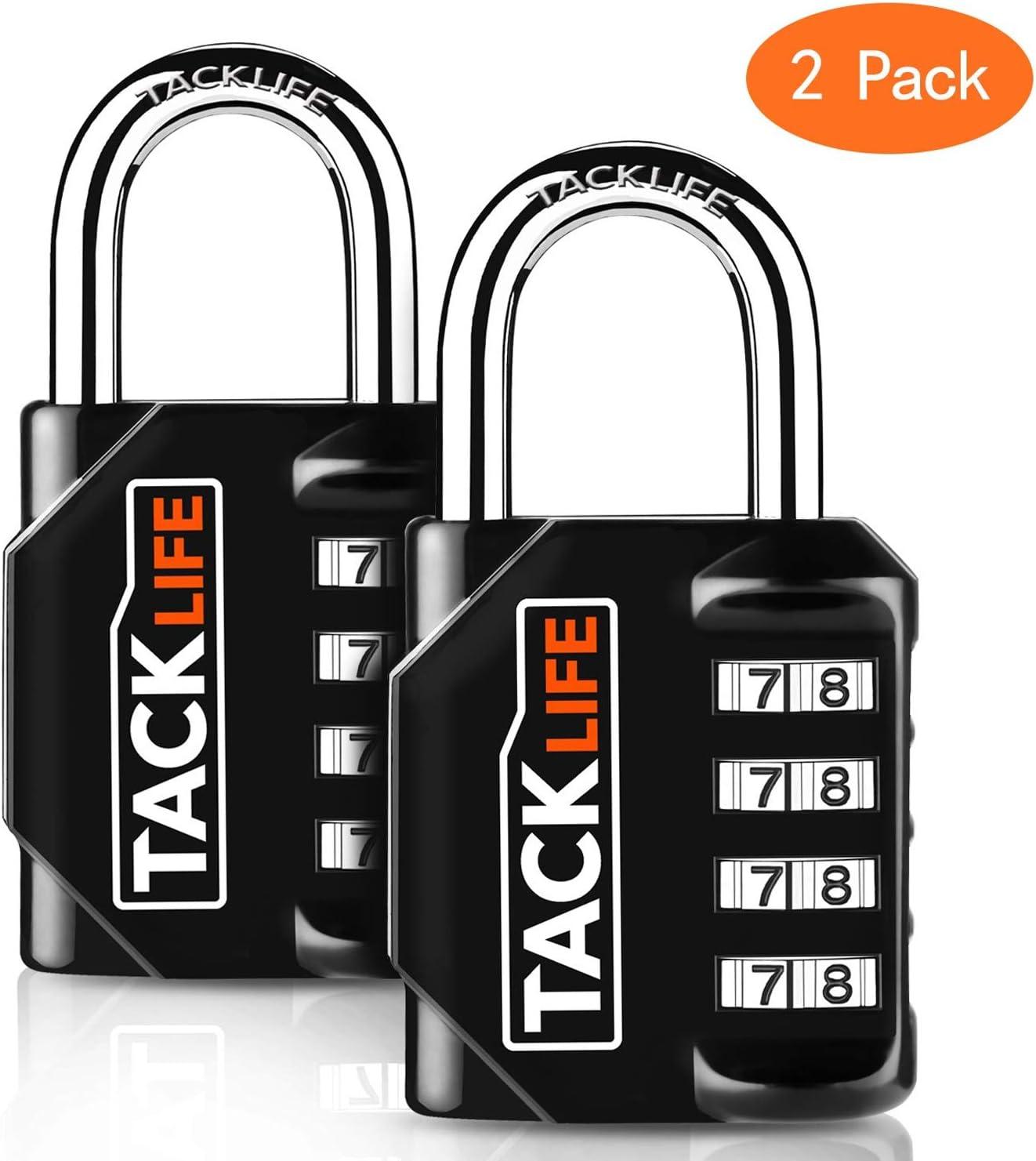 Candados de seguridad, Tacklife HCL1B Heavy Duty de 4 digitos codigos de combinacion reprogramables equipaje cerraduras, cerraduras para indoor & Outdoor uso diario: Amazon.es: Bricolaje y herramientas