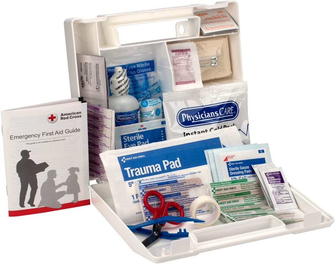 First Aid Only 223-U 25 Person Bulk First Aid Kit, 106-Piece Kit, White: Industrial & Scientific